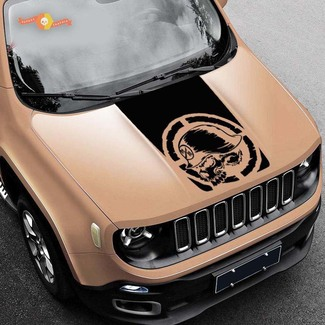 2015-2019 Vinyl Hood Decal Blackout military Metal Mulisha Jeep Renegade vinyl Graphic USA