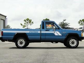 MJ Jeep Comanche Pickup Hockeyschläger Cherokee Seitenstreifen Aufkleber Kit
