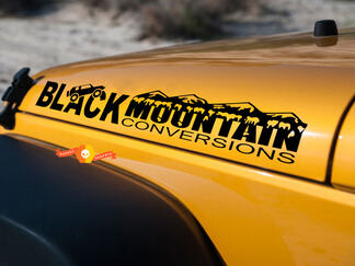 Jeep Black Mountain Conversations hood side Graphic decals stickers fits all models