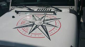 2 kleuren Jeep Hood Decal Compass Sticker voor alle auto's