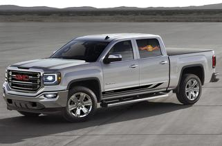 Side stripes decal for GMC Sierra door panel graphics model 5
