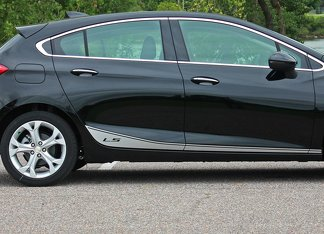 Chevrolet Cruze Racing side stripes graphics decal door line decal+2