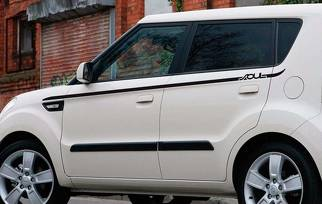 Side pin stripe for Kia Soul 2014 2015 side decal graphics