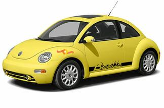Volkswagen New Beetle 1998-2011 Beetle lettering side graphics decal