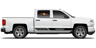 Chevrolet Silverado mk3 side stripes graphics decal door panel decal black vinyl 1
