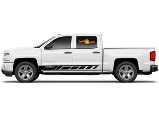 Chevrolet Silverado mk3 side stripes graphics decal door panel decal black vinyl 2