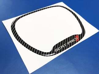 Lenkung RAD TRIM Ring Scatpack Rote Streifen Kohlefaser gewölbt Aufkleber Dodge Charger Challenger Daytona