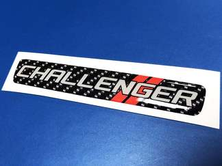 One Steering Wheel Challenger Carbon Fiber emblem domed decal style