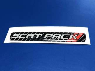 Ein Lenkrad Scat Pack Carbon Emblem Kuppel Aufkleber Scatpack