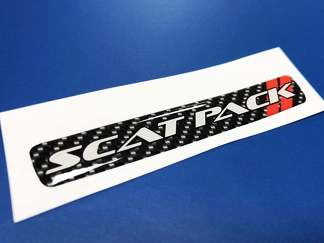 One Steering Wheel Scat Pack Carbon Fiber emblem domed decal 2 Scatpack