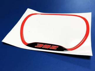 Steering WHEEL TRIM RING 392 Red emblem domed decal Challenger Charger
