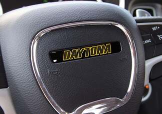 One Steering Wheel Daytona Yellow emblem domed decal Challenger Charger