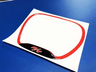 Steering WHEEL Trim Ring RT R/T emblem domed decal Challenger Charger