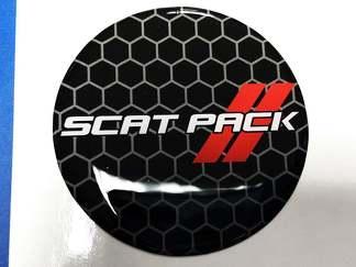 Scat Pack Rote Kraftstofftür Emblem-Kuppelaufkleber für Challenger Scatpack einfügen
