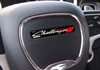 One Steering Wheel Challenger old style emblem domed decal