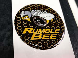 Start engine button Rumble Bee emblem domed decals