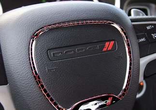Lenkradverkleidung Ring Scat Pack Emblem Kuppel Aufkleber Challenger Charger Dodge Scatpack