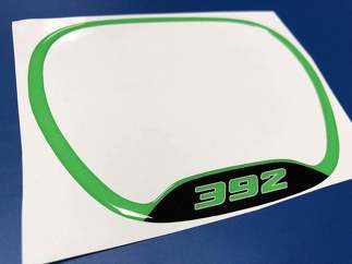 Steering WHEEL TRIM RING 392 Green Lime emblem domed decal Challenger Charger Dodge