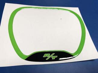 Steering WHEEL TRIM RING R/T lime emblem domed decal Challenger Charger Dodge