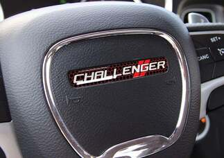 One Steering Wheel emblem domed decal Challenger Dodge