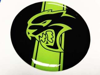 Hellcat Lime Fuel Door Insert Emblem Kuppel Aufkleber für Challenger Dodge