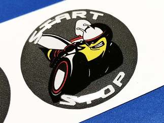 Start engine button Start Stop Scat Pack logo Grey White emblem domed decals Challenger Charger Dodge Scatpack