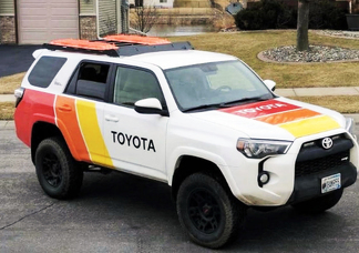 2 side Old school toyota 4Runner Tundra Tacoma LandCruiser graphics vinyl decals stickers kit