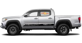 Toyota TACOMA 2016 TRD PRO graphics Side stripe decal