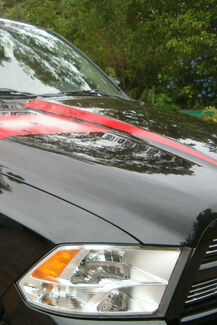 Dodge ram 2009 -2019 hood raise decal / hood spears stripe stripes