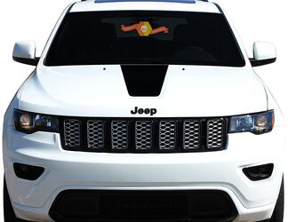 2011-2018 Jeep Grand Cherokee Front HOOD GRAPHIC Decal BLACKOUT