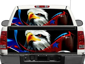 USA eagle flag US Rear Window OR tailgate Decal Sticker Pick-up Truck SUV Car