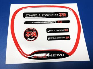 Set of CHALLENGER T/A 392  Steering WHEEL TRIM RING emblem domed decal