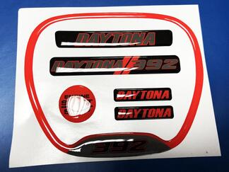 Set of Charger Red Daytona 392 Steering WHEEL TRIM RING emblem domed decal Charger Dodge