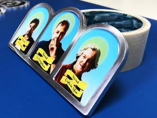 Heilige Dreifaltigkeit der Grand Tour Altar Ikone Jeremy Clarkson (Der Orang-Utan) Richard Hammond (Hamster) James May (Captain Slow) Emblem Aufkleber