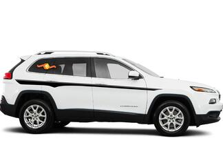 2014-2019 Jeep Cherokee Side Stellar Stripe Cherokee Decals Graphics Stripes