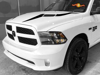2017 - 2018 Dodge Ram 1500 Rebel Hood inlay Decal Stripe