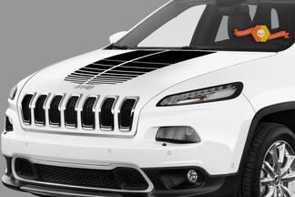 JEEP COMPASS VINYL HOOD DECALS STICKERS GRAPHICS STRIPES 2017-2019