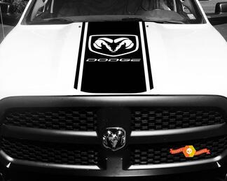 Dodge Ram 1500 2500 3500 Vinyl Racing Streifen Hemi Hood Decals Aufkleber # 4