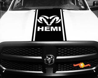 Dodge Ram 1500 2500 3500 Vinyl Rennstreifen RAM Hemi Hood Aufkleber Aufkleber # 14