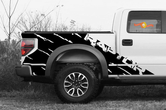 2 side Ford Raptor SVT F150 Bedside Predator Vinyl Graphics Decals