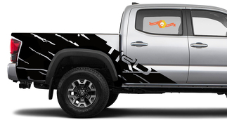 New 2 side TOYOTA TRD TACOMA mud splash GRAPHICS DECALS  bedside VINYL