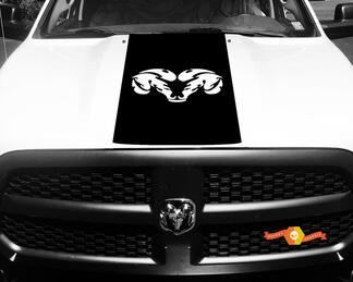 Dodge Ram 1500 Vinyl Aufkleber HOOD Ram Head Racing HEMI Streifenaufkleber # 30