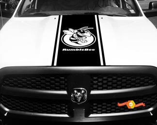 Dodge Ram 1500 Vinyl Aufkleber HOOD Rumble Bee Stripe Aufkleber # 42