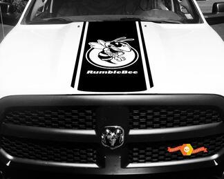 Dodge Ram 1500 Vinyl Aufkleber HOOD Rumble Bee Stripe Aufkleber # 44
