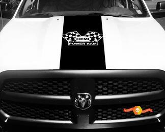 Dodge Ram Aufkleber Vinyl Karierte Flagge Hemi Power Ram Hood Racing Streifen Aufkleber # 60