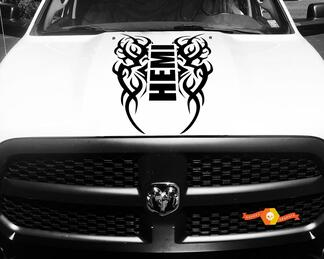 Dodge Ram Vinyl Hood Decal Tribal Sticker Tattoo Hemi Racing Stripe 4x4  #64