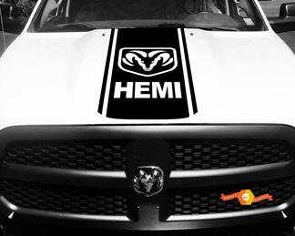 1500 2500 3500 Truck Vinyl Racing Decals Stripe Hemi Ram Dodge Hood Stickers  #73