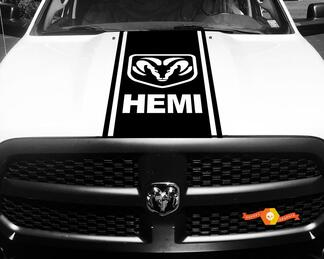 1500 2500 3500 Truck Vinyl Racing Decals Stripe Hemi Ram Dodge Hood Stickers  #75