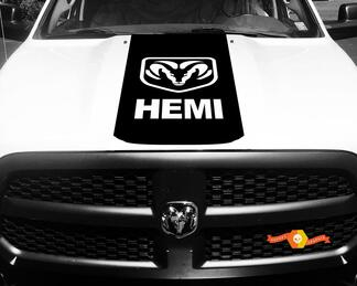factory style Dodge Ram Rebel Hemi 5.7 L vinyl decal sticker hood solid stripe