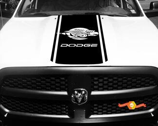 1500 2500 3500 LKW Vinyl Racing Streifen Ram Bee Hood Aufkleber Aufkleber # 77